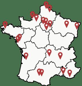 Carte France Ouvertures Maisons Domani